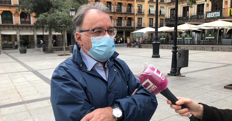 """Mora recalca el compromiso con el Hospital de Toledo: """"¿Quién está más interesado en que se abra, quien lo ha terminado o quien lo paralizó?"""""""