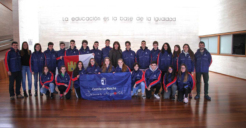 El Gobierno regional muestra su apoyo a la selección de Castilla-La Mancha de Orientación en su participación en el campeonato de España