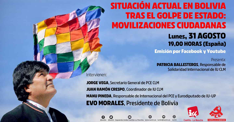 IU y PCE CLM organizan un acto sobre Bolivia con la participación de Evo Morales