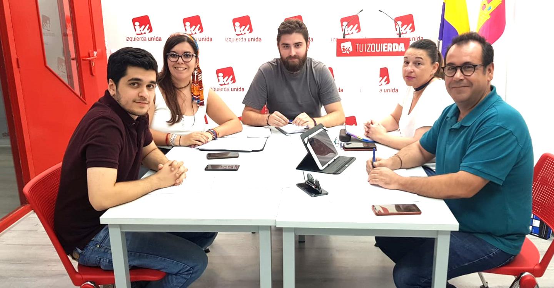 Izquierda Unida se reúne con la Plataforma de la Juventud de Castilla-La Mancha