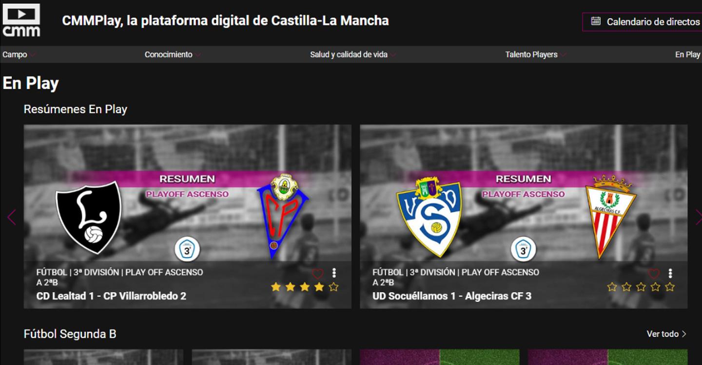 La Federación de Fútbol de Castilla-La Mancha premia a CMMPLAY por su difusión y promoción del fútbol de la Región