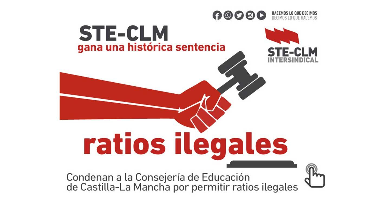 STE-CLM gana sentencia contra las ratios ilegales en Castilla-La Mancha