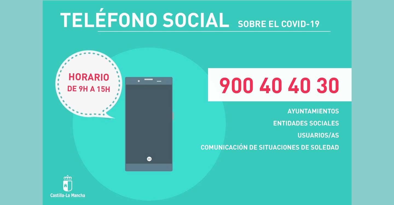 El Gobierno de Castilla-La Mancha mantiene activo el Teléfono Social tras atender más de 4.000 llamadas