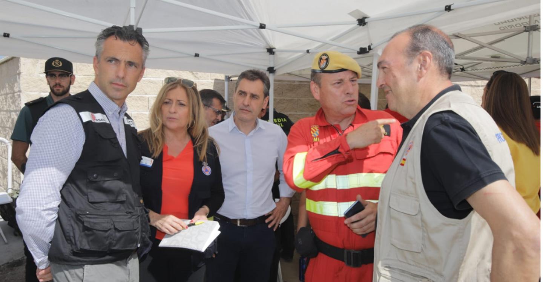 Tierraseca visita el Puesto de Mando Avanzado (PMA) del incendio que afecta a las provincias de Toledo y Madrid
