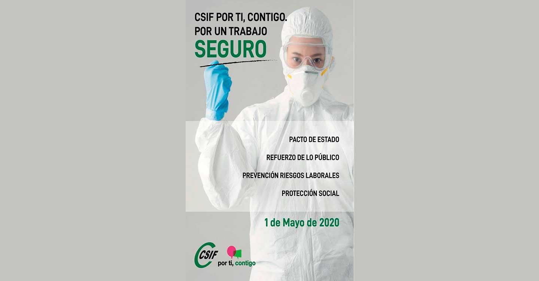 CSIF insiste en la seguridad con motivo del Día Internacional del Trabajo