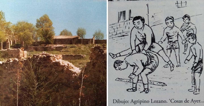 """Los """"Galguillos"""" en las desmoronadas fábricas de la pólvora y de paños, de Ruidera"""