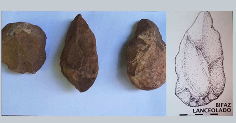 Encuentra, fortuitamente, útiles líticos prehistóricos del Achelense, en la Cuenca del Alto Guadiana